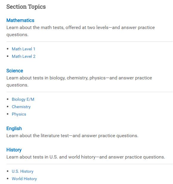 SAT2受众群体及考试攻略