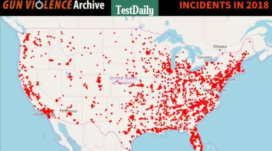 """全美一年发生6万多起枪击案,美国""""最不安全""""的10个城市请务必了解一下"""