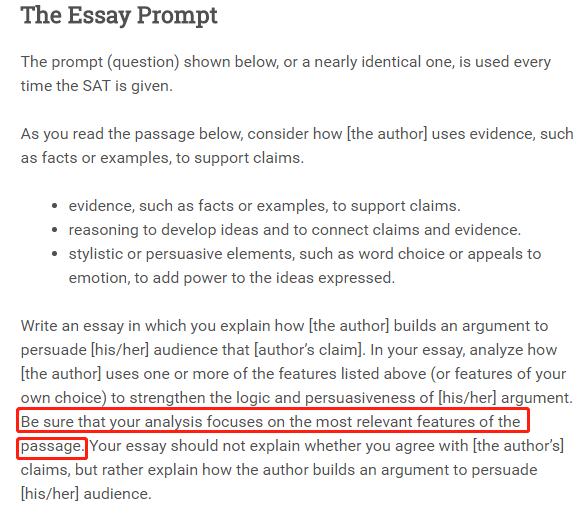 SAT 写作真题及范文下载