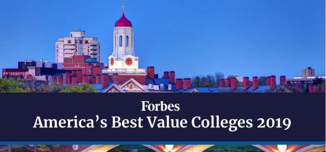 福布斯:美国性价比最高的大学排行
