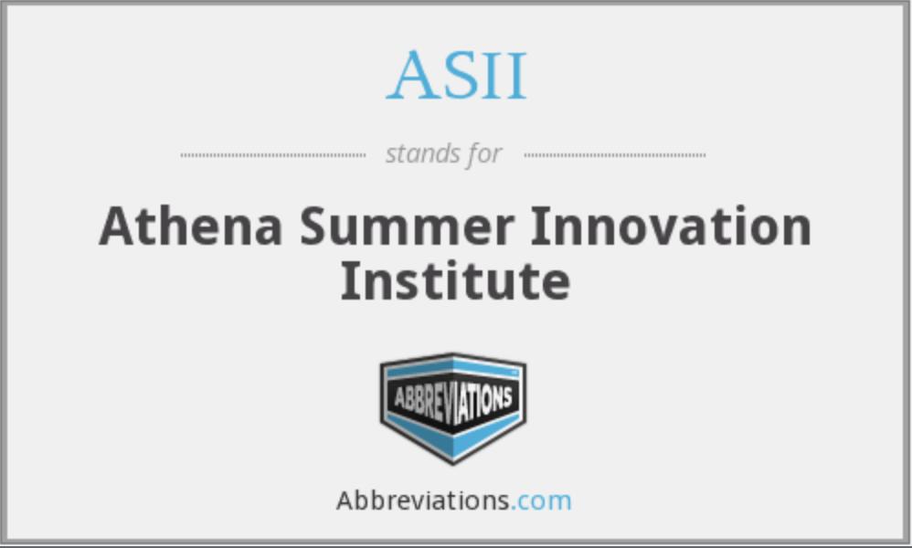 巴纳德学院夏校:雅典娜夏季创新学院ASII-Athena Summer Innovation Institute