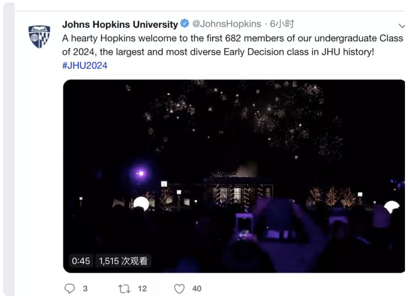 2019-2020约翰霍普金斯(JHU)早申放榜,ED录取标准怎么样?-TestDaily厚朴优学