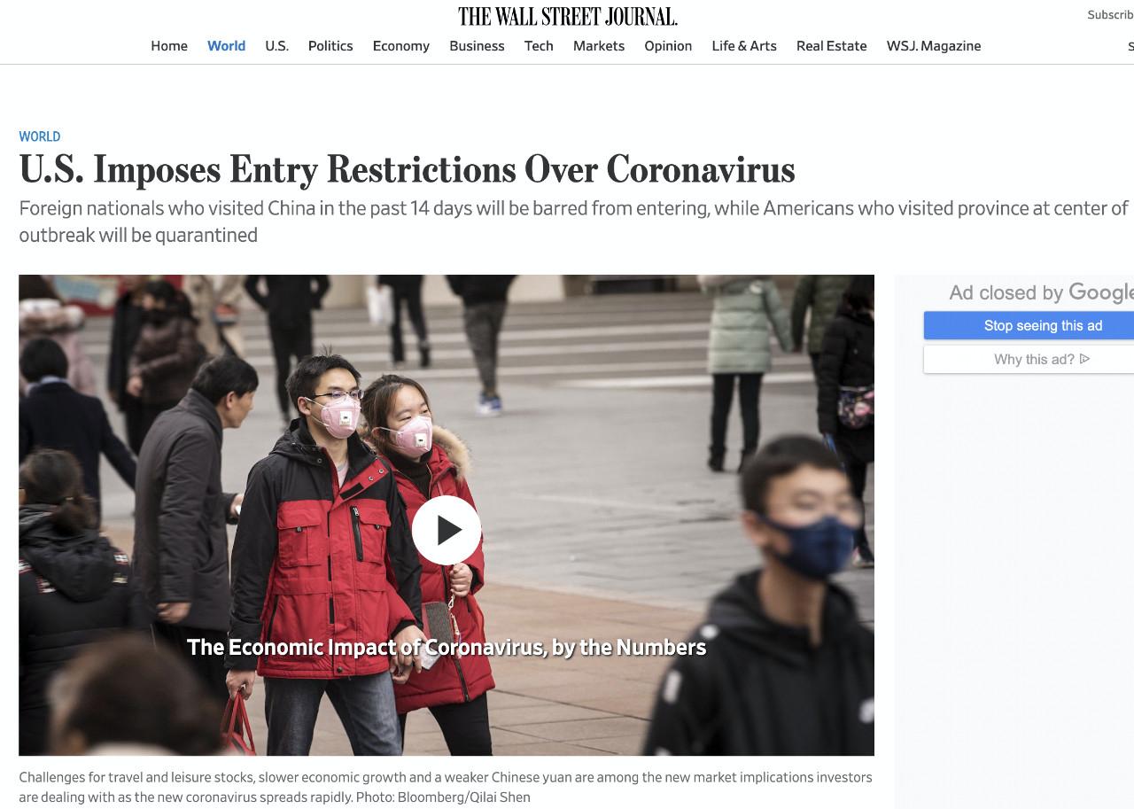 3月SAT考生务必注意!赴美签证预约被停,14天内来过中国的外国人将禁止入境,美加四大航空停飞大陆航班!