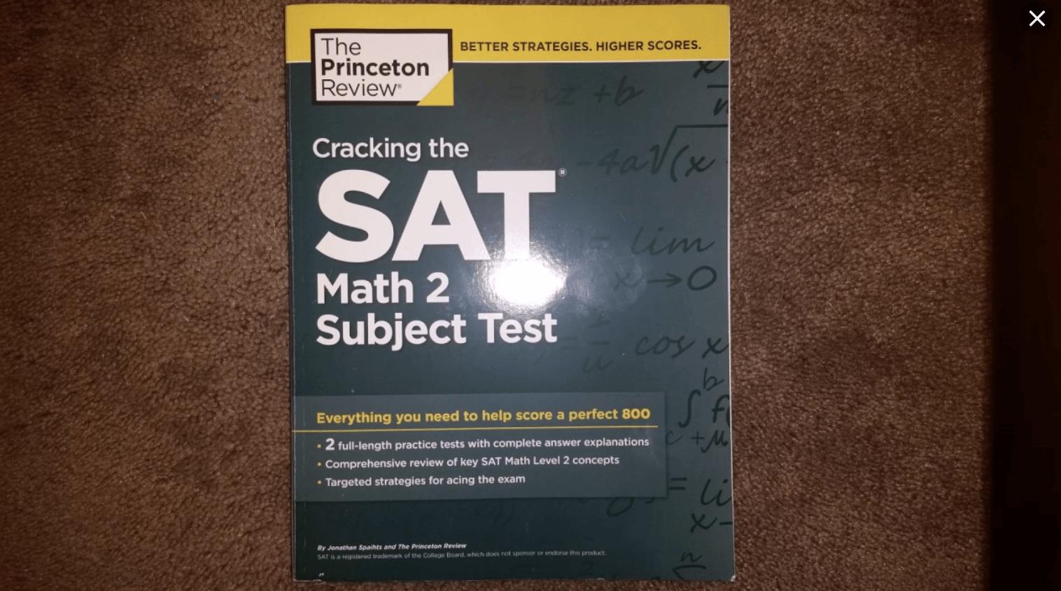 SAT2数学普林斯顿PDF电子书下载