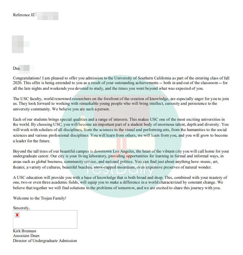 我是怎样收到南加州大学的offer?-标化/活动/文书/面试,全面解析USC录取标准