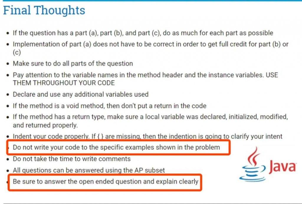 CB官方发布2020年AP计算机科学考试(CSA)的细节:考试时间/考试题型/备考资料/评分标准/考前建议