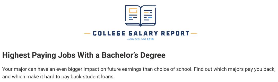 美国大学本科最高薪酬专业Top10排行榜-美国大学本科毕业生高薪专业排行榜-PayScale就业薪酬榜单