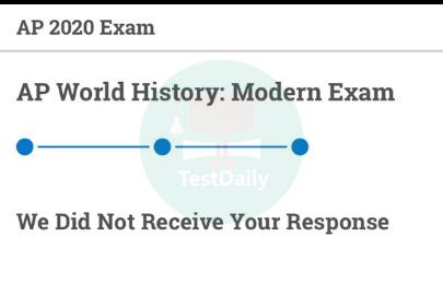 AP网考提交答案失败页面