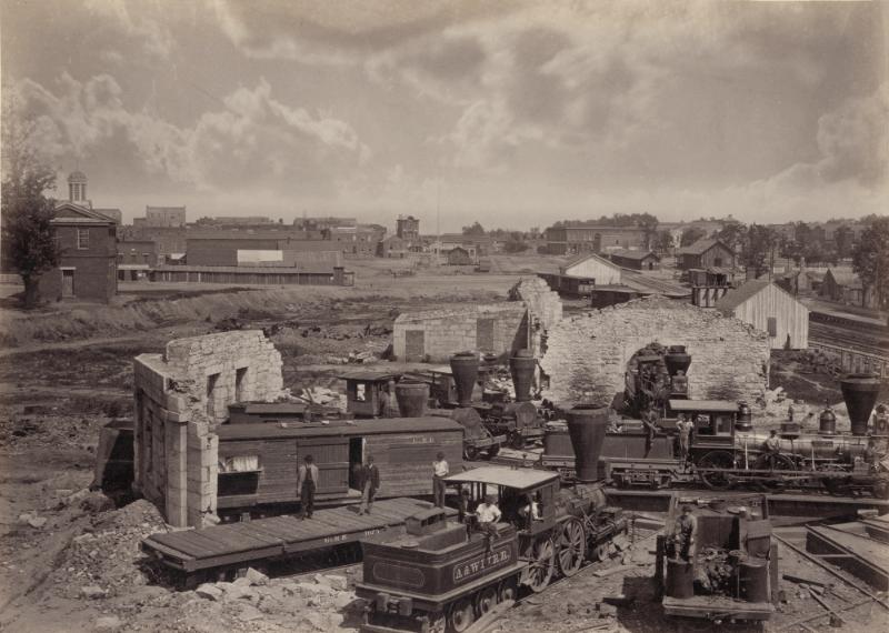 美国内战后亚特兰大市街景(1866年)