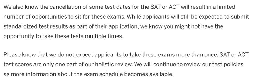 2020年Top10美国大学录取政策有哪些变化?SAT/ACT/SAT2/托福等语言成绩还需要提交吗?