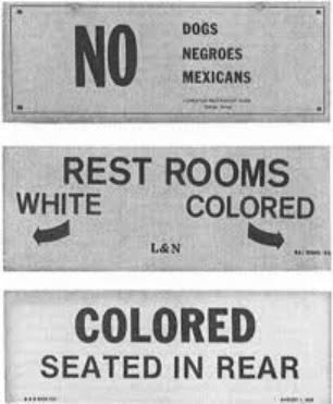 种族隔离时期的一些公共设施标牌