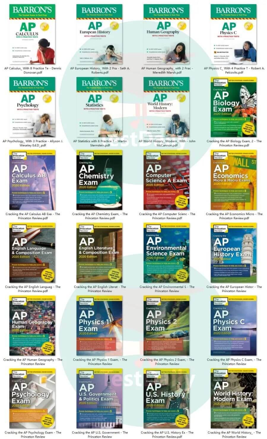 2020年AP最新巴郎、普林斯顿教辅免费下载