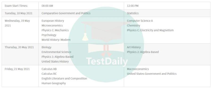 2021年韩国AP延迟考试时间表