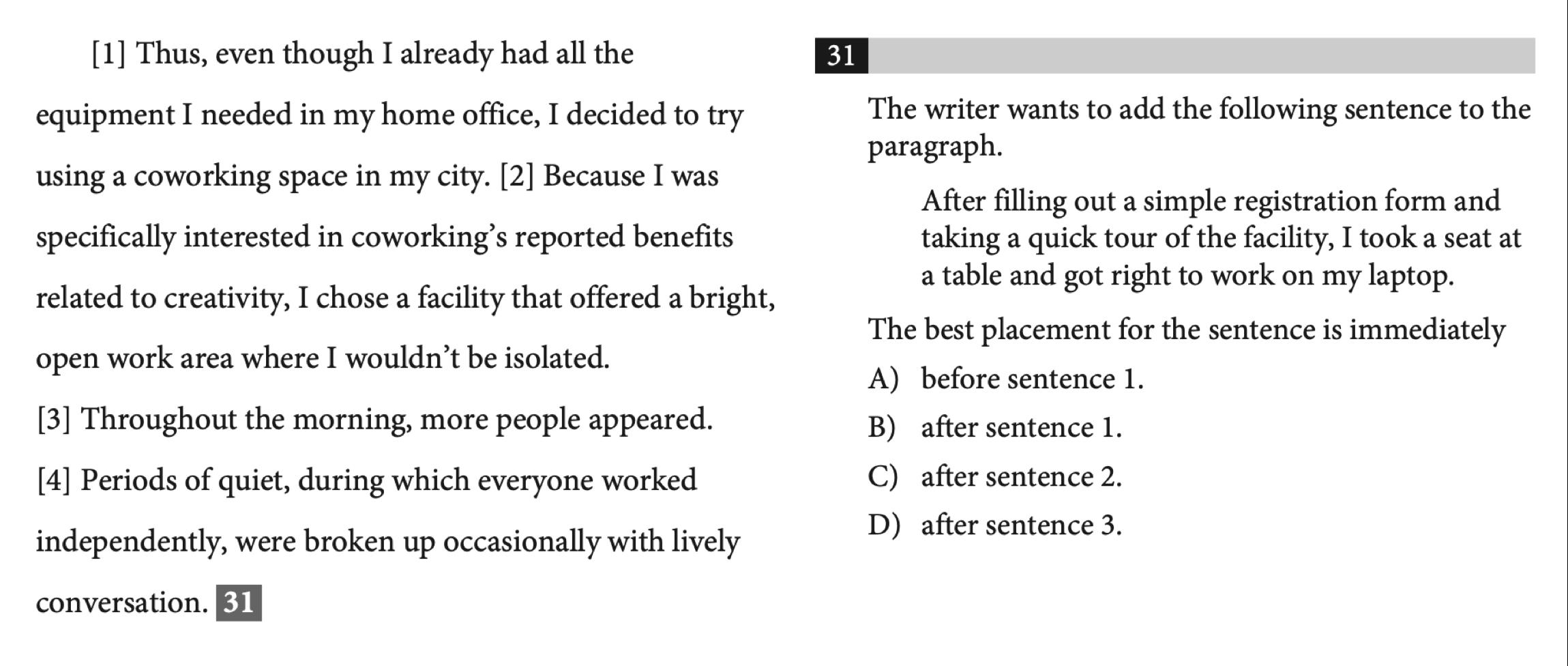 SAT语法常见的4大句子排序题做题技巧-SAT句子排序题高分做题攻略