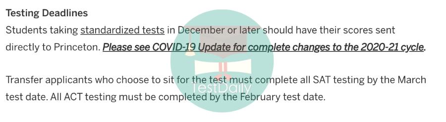 2020年美国综合性大学TOP30,EA/ED/RD申请批次,可接受SAT/托福等标化考试的最晚时间汇总