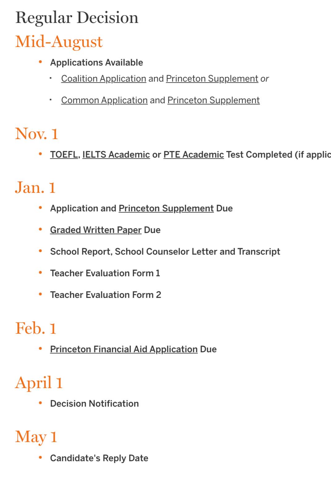 最新!2020年美国综合大学TOP70+美国文理学院TOP30的EA/ED/RD批次申请截止日期汇总