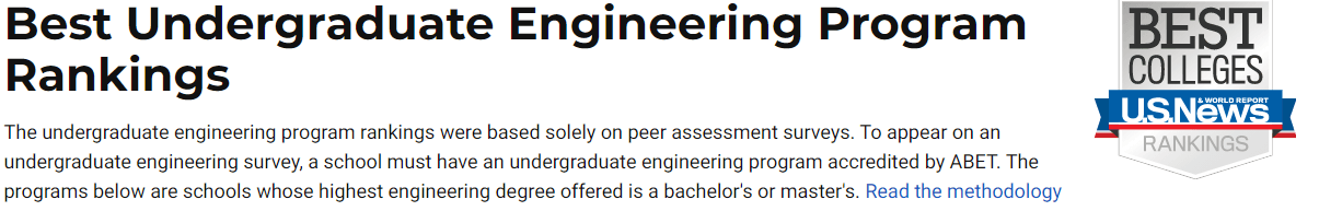 2021 U.S.News美国大学本科/博士学位工程专业Top5排行榜!-美国大学工程专业最强的学校有哪些?