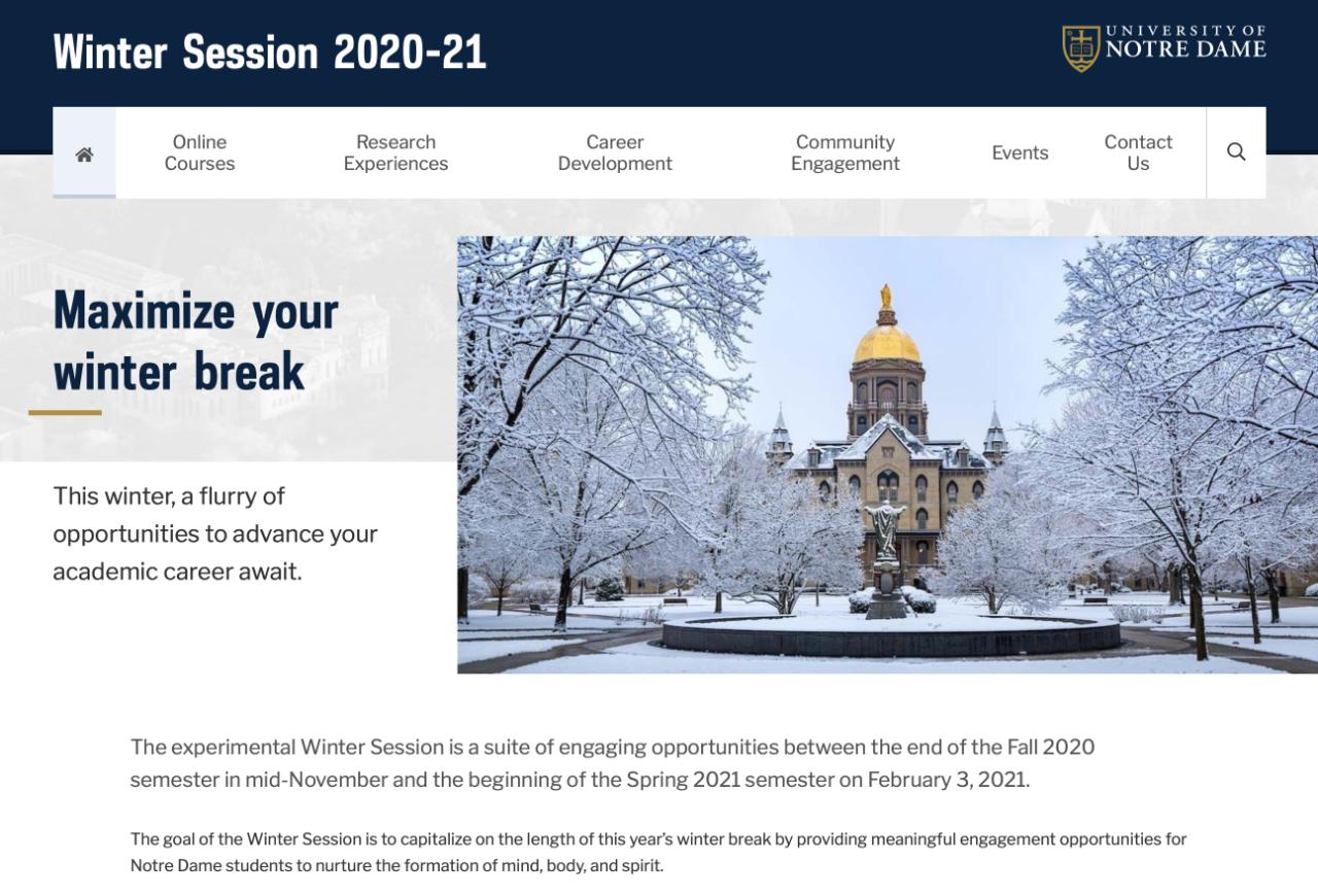 2020年美国大学寒假放假时间长度大排行!圣母大学放82天?!你的学校放几天?