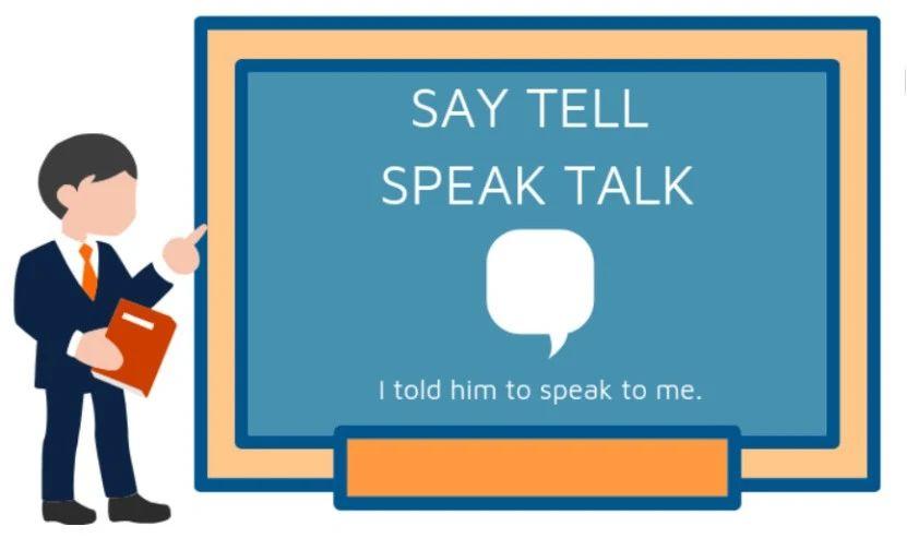 "speak/talk/say/tell都表示""说"",在用法上有哪些区别?-KET/PET英语词汇学习"