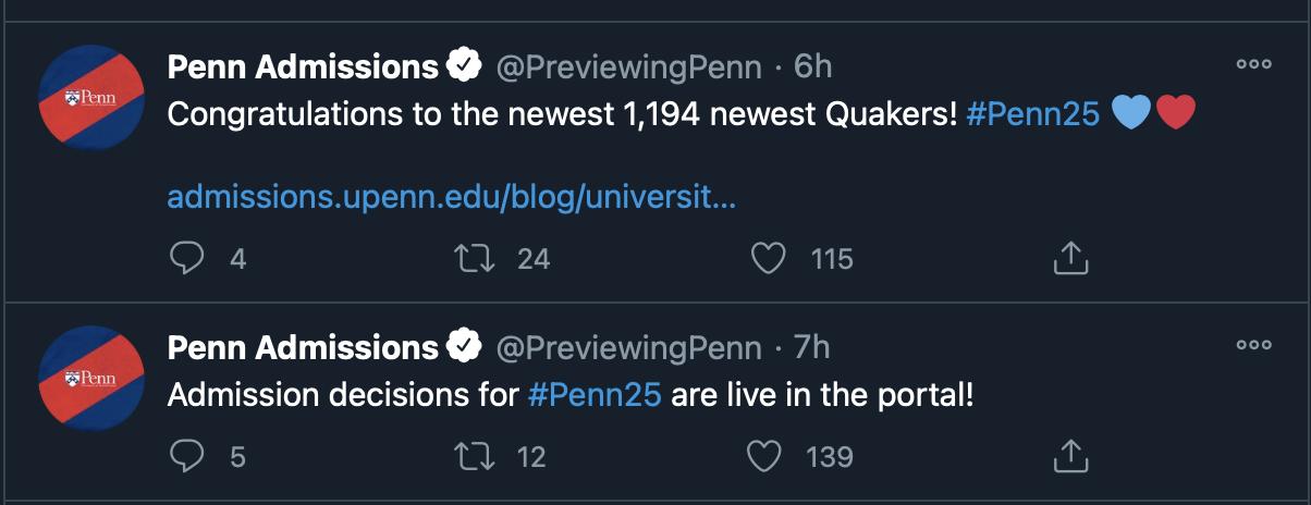 2020-2021年UPenn(宾夕法尼亚大学)ED早申放榜,录取标准是什么?
