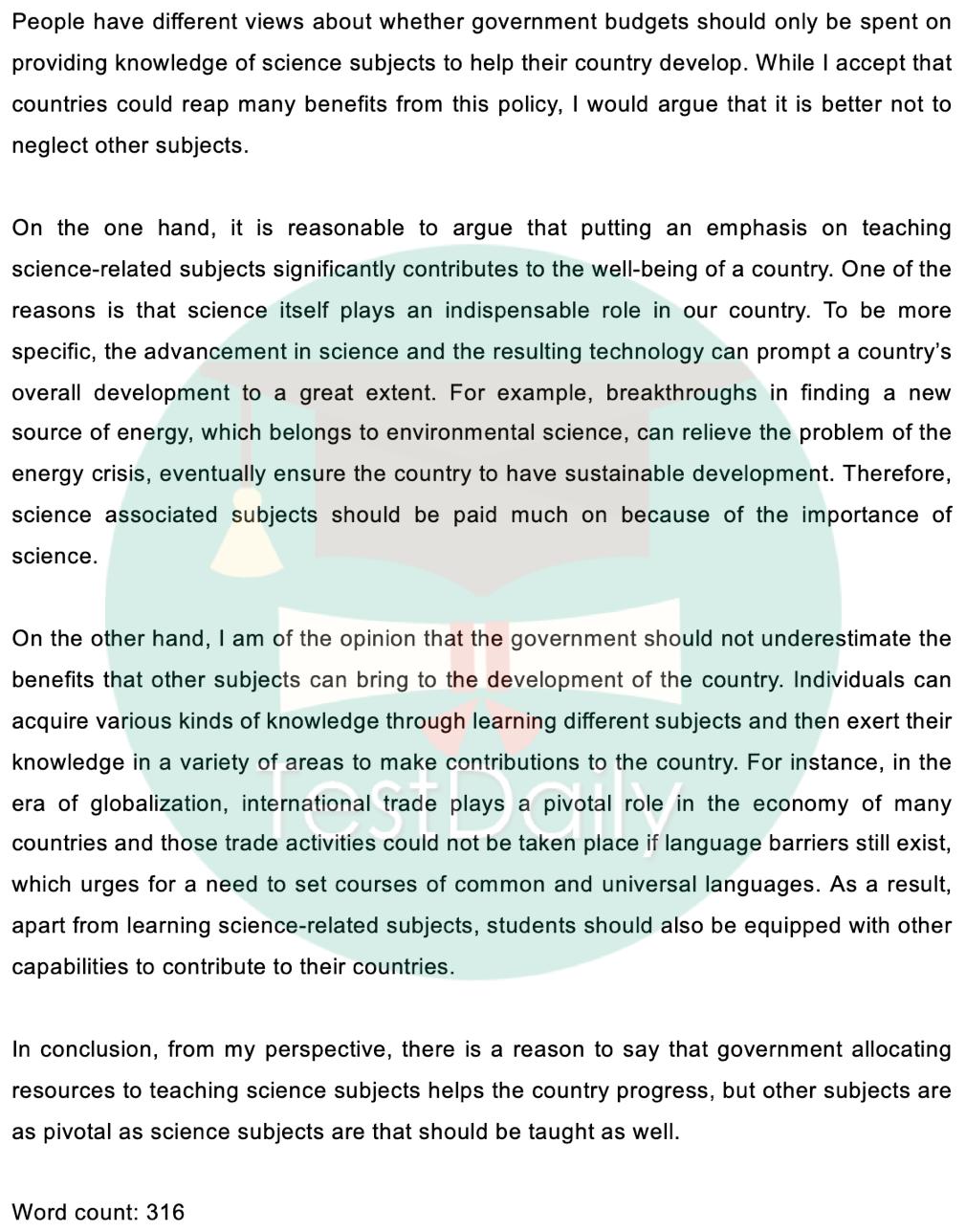 2020年12月5日雅思考试真题:大作文题目及高分范文