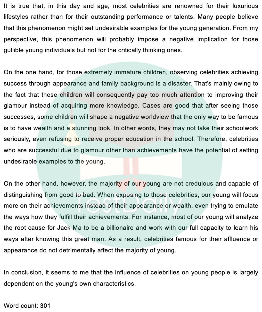 2020年12月12日雅思考试真题:大作文题目及高分范文