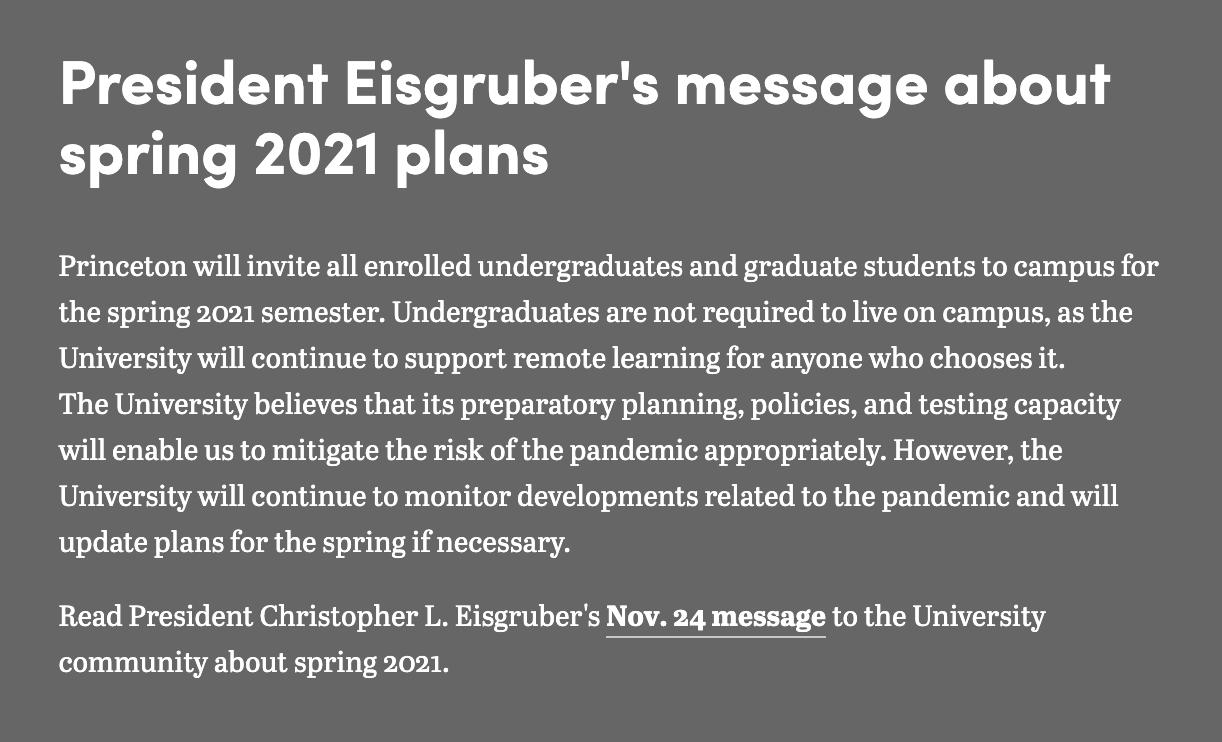 2021年美国综合性大学TOP 20最新春季开学政策汇总:大部分学校采取混合教学模式