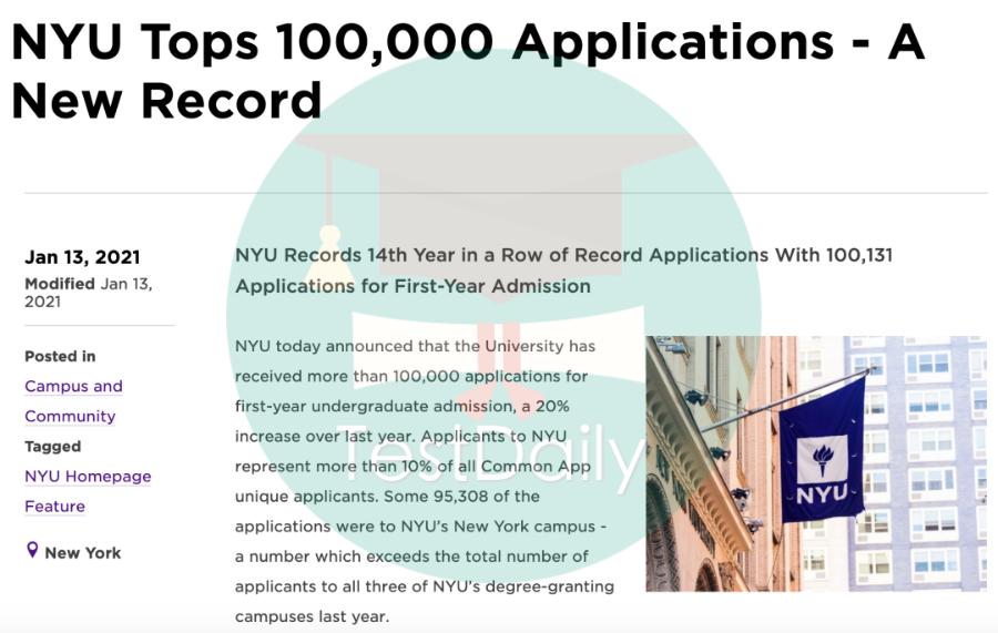 2021年MIT申请人数暴涨62%,哈佛大学上涨57%,纽约大学冲破10万人-2021年美国大学申请/录取数据
