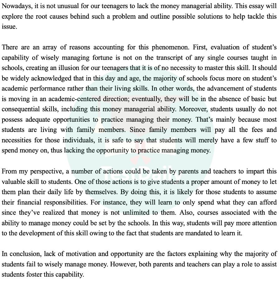 2021年1月16日雅思考试真题:大作文题目及高分范文