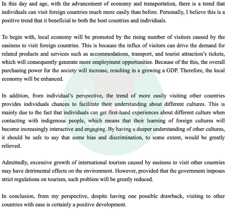 2021年2月6日雅思考试真题:大作文题目及高分范文