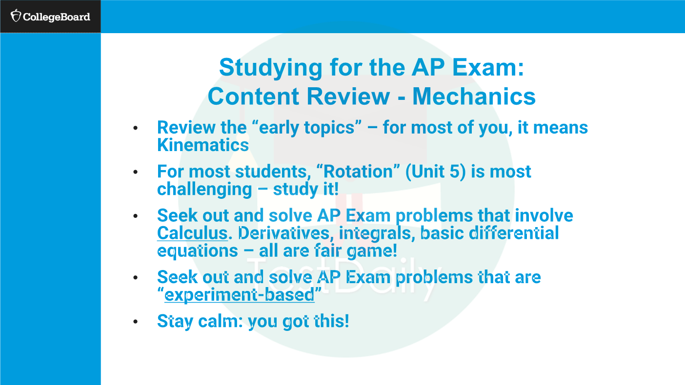 2021年AP物理C考试重点是什么?答题技巧有哪些?考前如何备考冲刺5分?CB官方研讨会