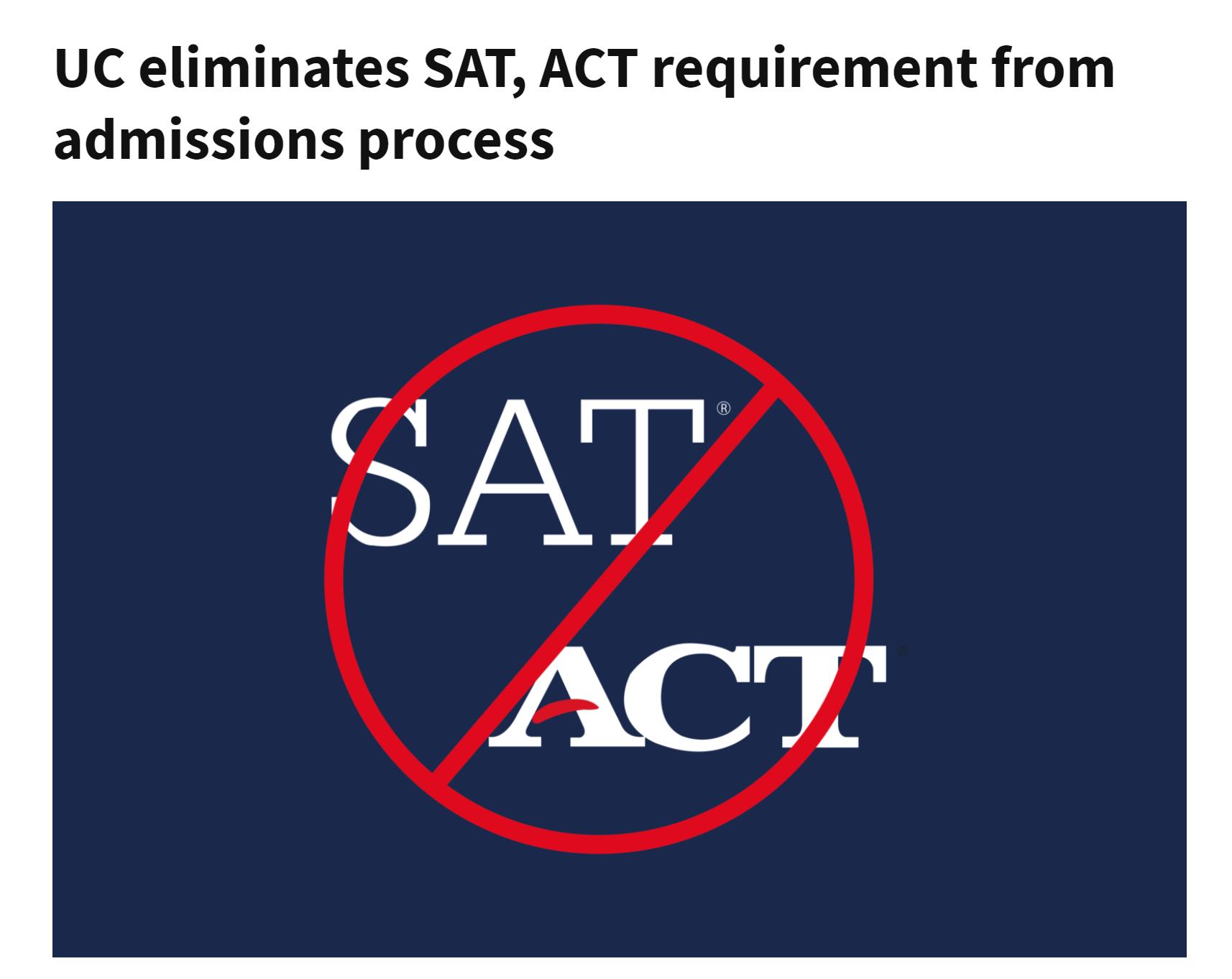2022 UC申请系统开放!ACT/SAT可选择提交,新增多邻国/TOEFL P/B语言考试类型
