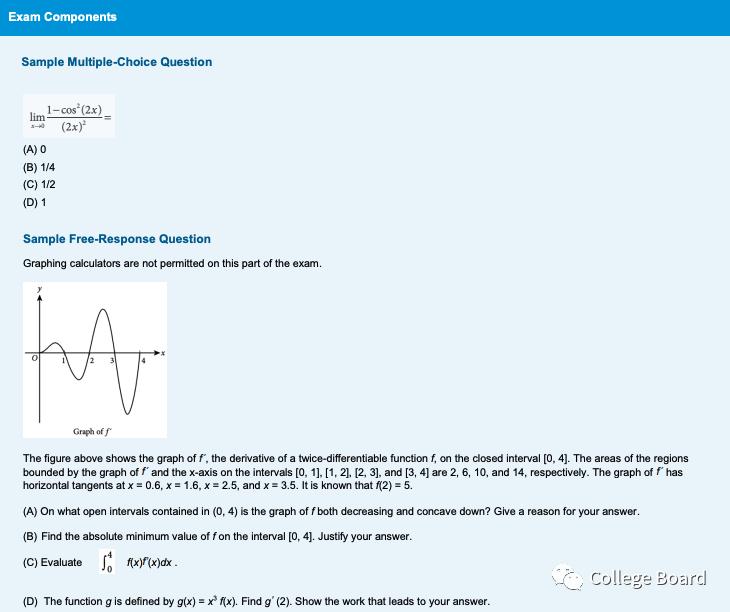 AP微积分AB官方介绍 AP微积分AB学什么?考试形式及考试内容有哪些?