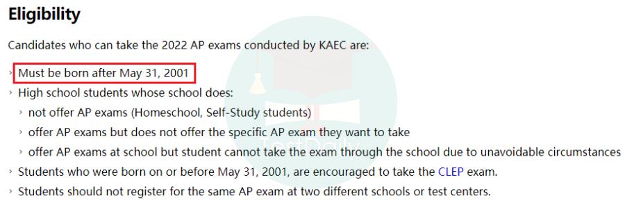 2022 韩国AP考试报名网站有新变化-AP 韩国考区考试报名指南
