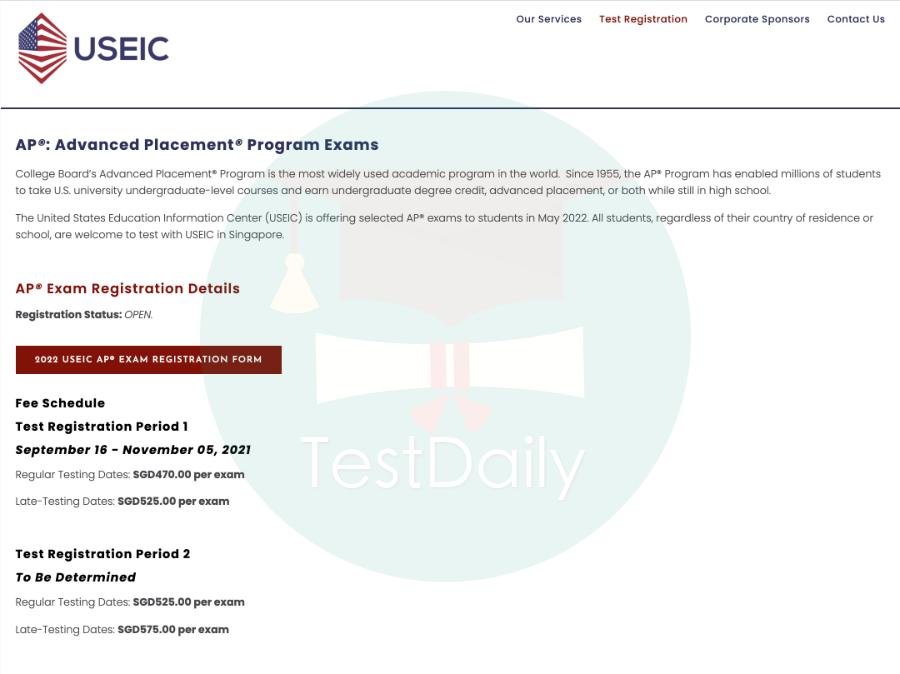 最新!2022年AP 新加坡考区开放考试报名,报名流程图解都在这!