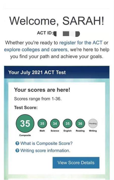 SAT转考ACT,并斩获35分成绩,我有这些备考经验要分享 | ACT考前复习经验